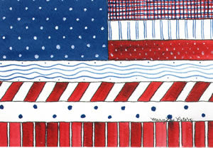 Patriotic: Patchwork Flag II