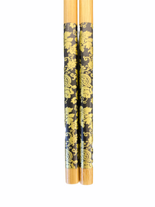 Lacquer Bamboo Chopsticks - Black/Gold