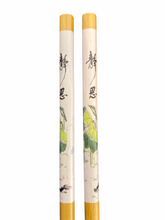Load image into Gallery viewer, Lacquer Bamboo Chopsticks - White/Green