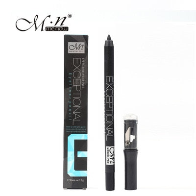 by DHL 1000Pcs free shipping M.n Menow Makeup Black Eyeliner Long Lasting Waterproof Eyeliner With Sharpener Eyeliner Pencil