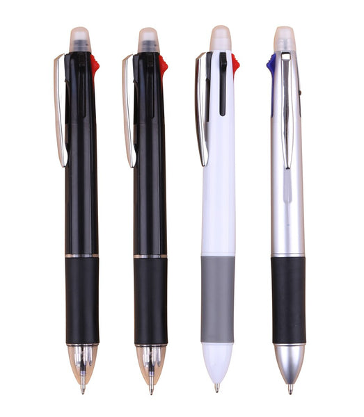 [Free Logo ]5000pcs/lot 5 in 1 pen and machanical pencil with eraser,company/school/fair use with custom company logo wholesale
