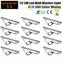 Freeshipping 12XLOT Strip 24 pcs LED Bar Lighting 3 Watt Wall Washer Outdoor IP65 Led Pencil Beam light Epistar Chip 100-240V