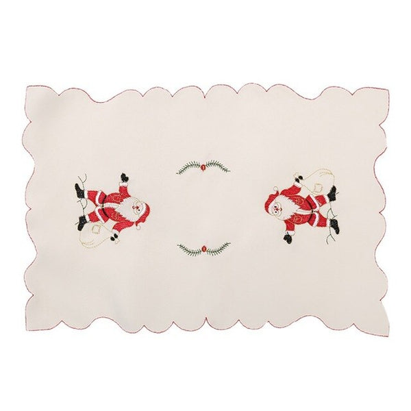 2020 Hollow Embroider Christmas Dining Cup Pad Mat Festival Christmas Party Table Mat Dish Placemat Table Decorations,
