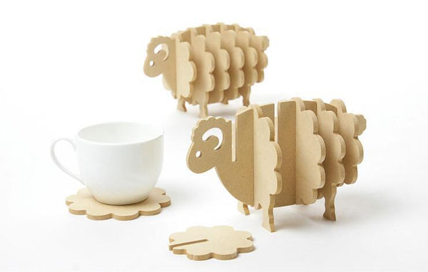 500pcs Wooden Cork  Animal Coasters Cup Cushion Set with Heat Insulation Pad and Non-slip Placemat Home Decor Custom Logo