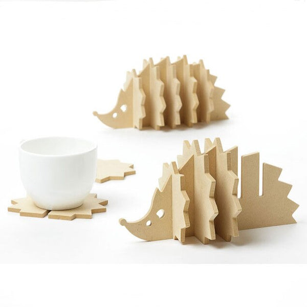 1000pcs Cork  Animal Coasters Cup Placemat with Heat Insulation Pad and Non-slip Placemat Home Decor Custom Logo