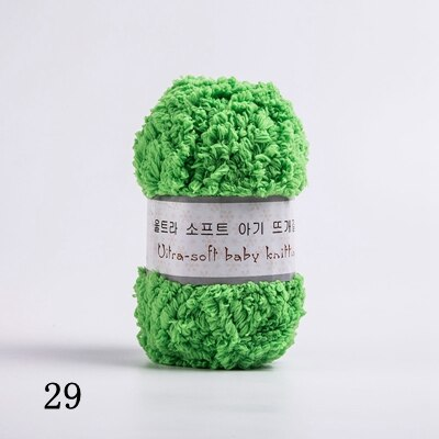 Soft Smooth Yarn Baby Knitting Wool Yarn Thick Yarn Fiber Velvet Yarn Hand Knitting Wool Crochet Yarn for DIY Sweater