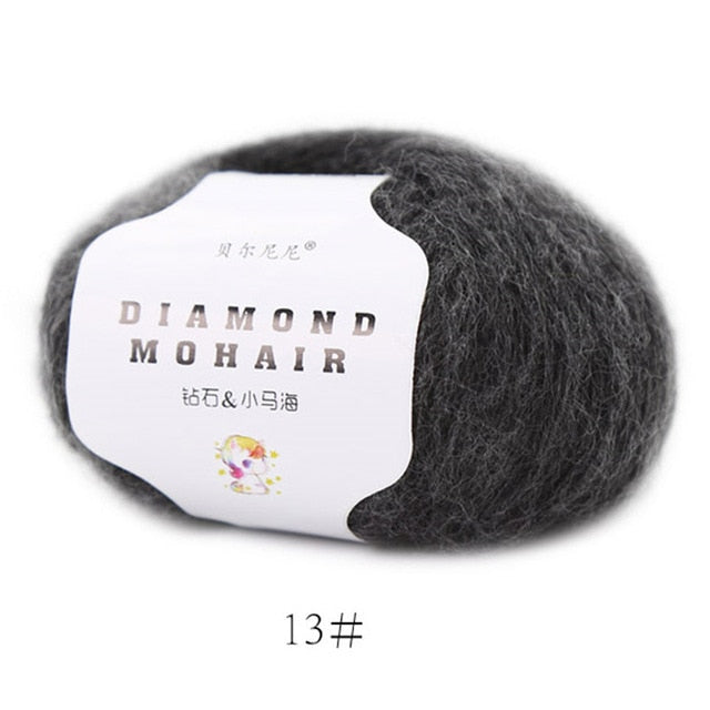 25g mohair yarn crochet cheap baby wool yarn for knitting sweater 166m 0.9mm