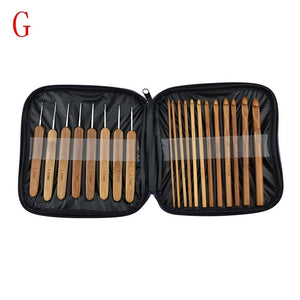 17 Styles Set Crochet Hook Set With Yarn Knitting Needles Sewing Tools Set Knit Gauge Scissors Stitch Holder Hook For Knitting