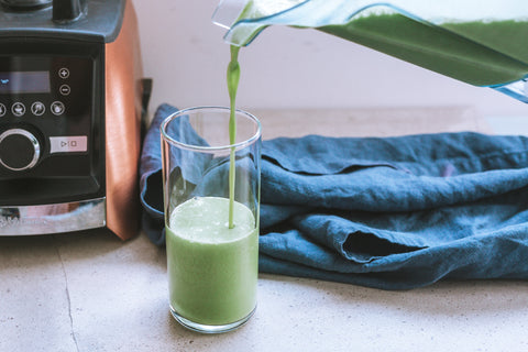 pineapple and banana green protein smoothie