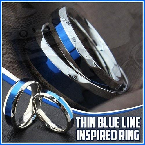 THIN BLUE LINE INSPIRED RING