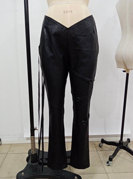 LOW-RIDER LEATHER PANT