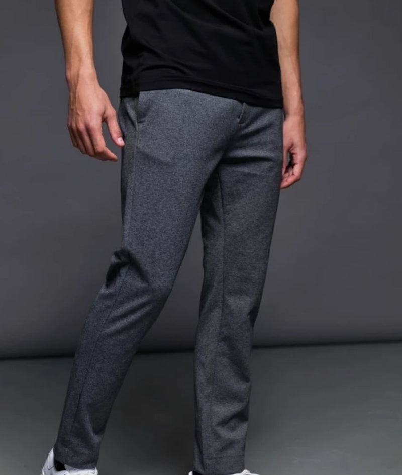 Milano Jersey Stretch Pants Clean Cut Copenhagen Grey Melange
