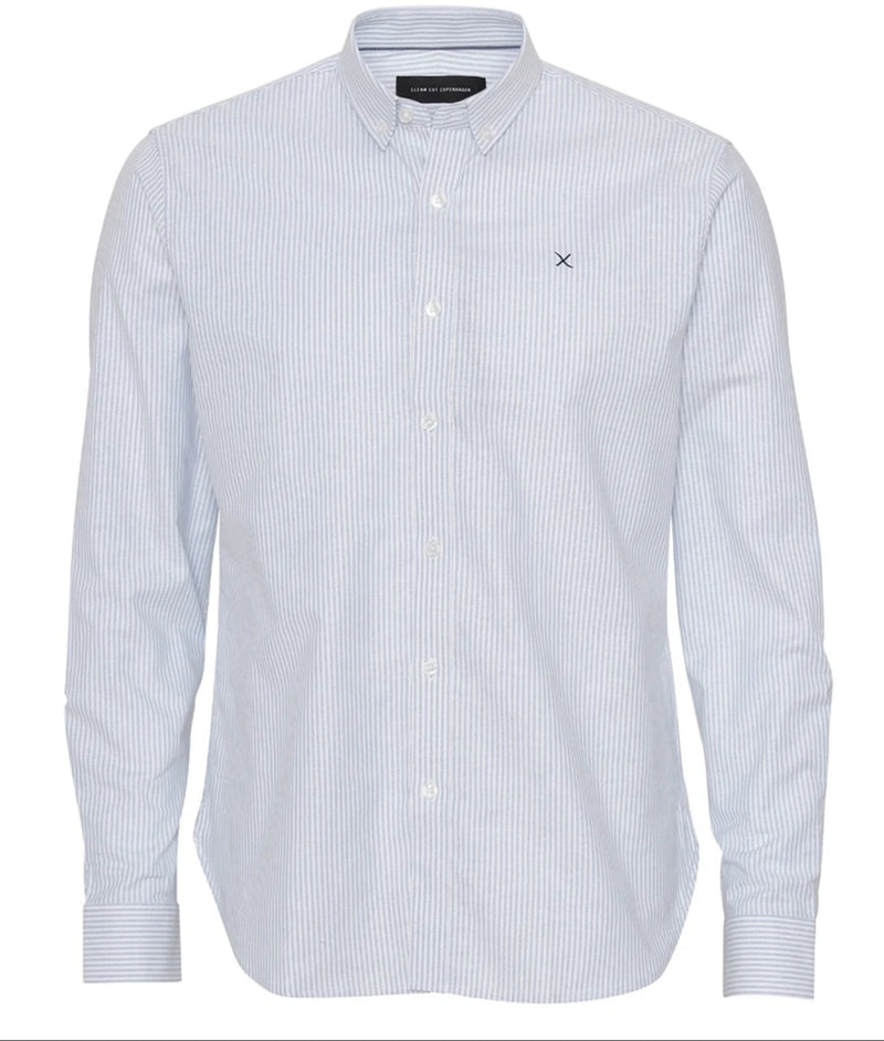 Oxford Stretch Stripe Shirt Clean Cut Copenhagen