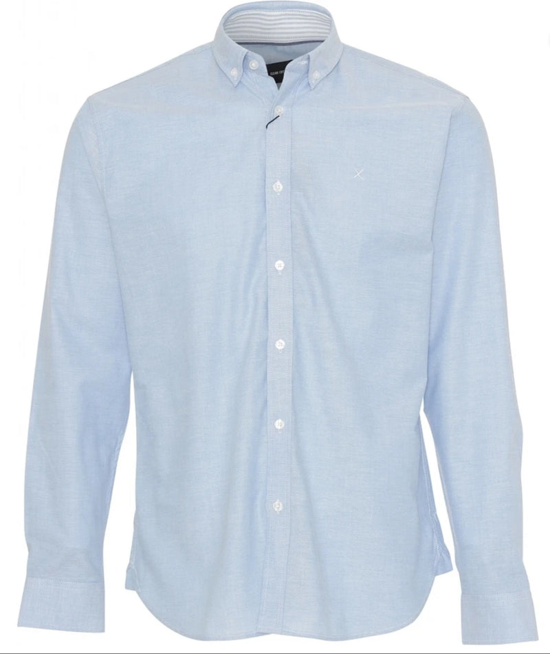 Oxford Stretch Shirt Light Blue Clean Cut Copenhagen