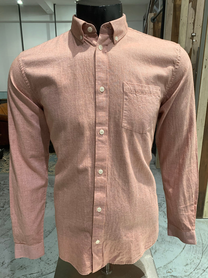 Flanel oxford shirt baked clay Minimum