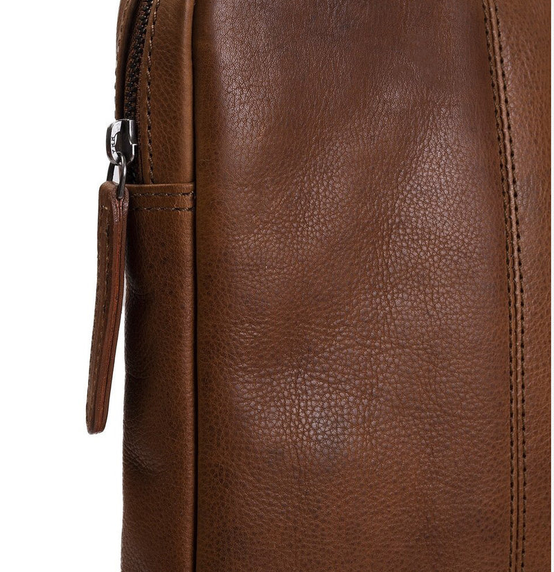 Leren Laptop Sleeve Cognac Chesterfield 'glenn'