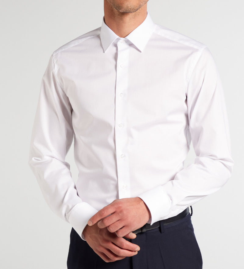 Eterna slim fit stretch shirt wit