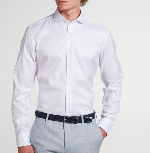 Eterna overhemd SLIM FIT COVER shirt wit