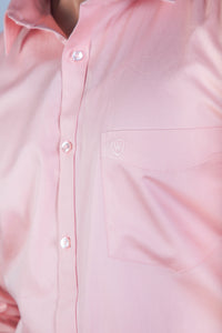 Peach 100% Cotton Satin Formal Shirt