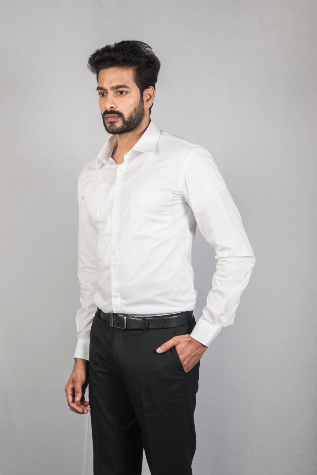 100% Cotton White Formal Shirt