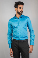 Load image into Gallery viewer, Aqua Giza Oxford Formal Shirt