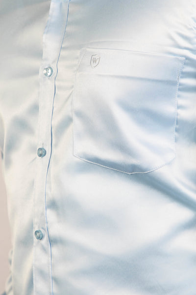 Light Blue Classic Satin Formal Shirt