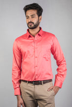 Load image into Gallery viewer, Pink Giza Chambray Formal Shirt