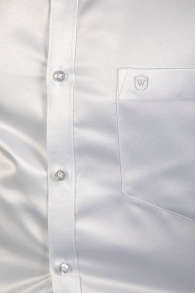 White Classic Satin Formal Shirt