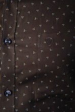 Load image into Gallery viewer, Green Oxford Dobby Print Formal Shirt
