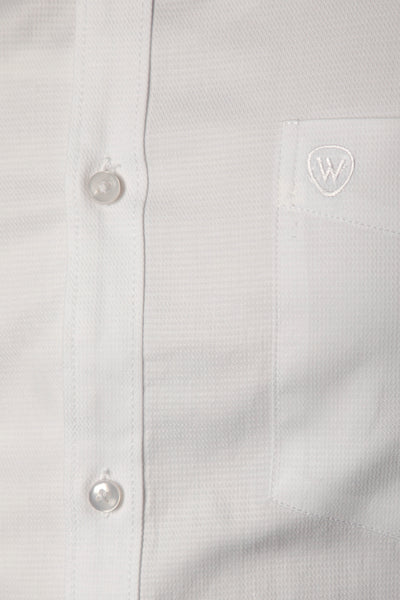 White Dobby Formal Shirt