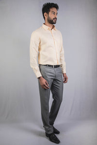 Light Yellow Dobby Formal Shirt