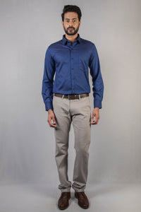 Dark Blue Dobby Formal Shirt