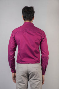 Purple Giza Oxford Formal Shirt