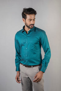 Dark Green Giza Oxford Formal Shirt