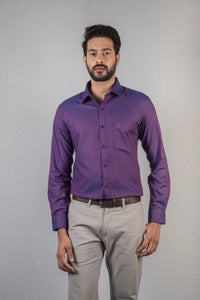Purple Dobby Formal Shirt