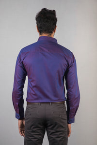Dark Purple Giza Oxford Formal Shirt