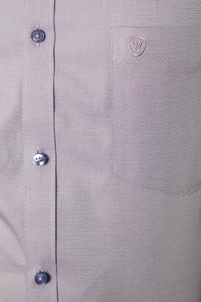 Light Purple Honeycomb Dobby Formal Shirt