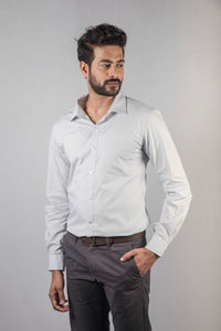 Light Grey Filafil Formal Shirt