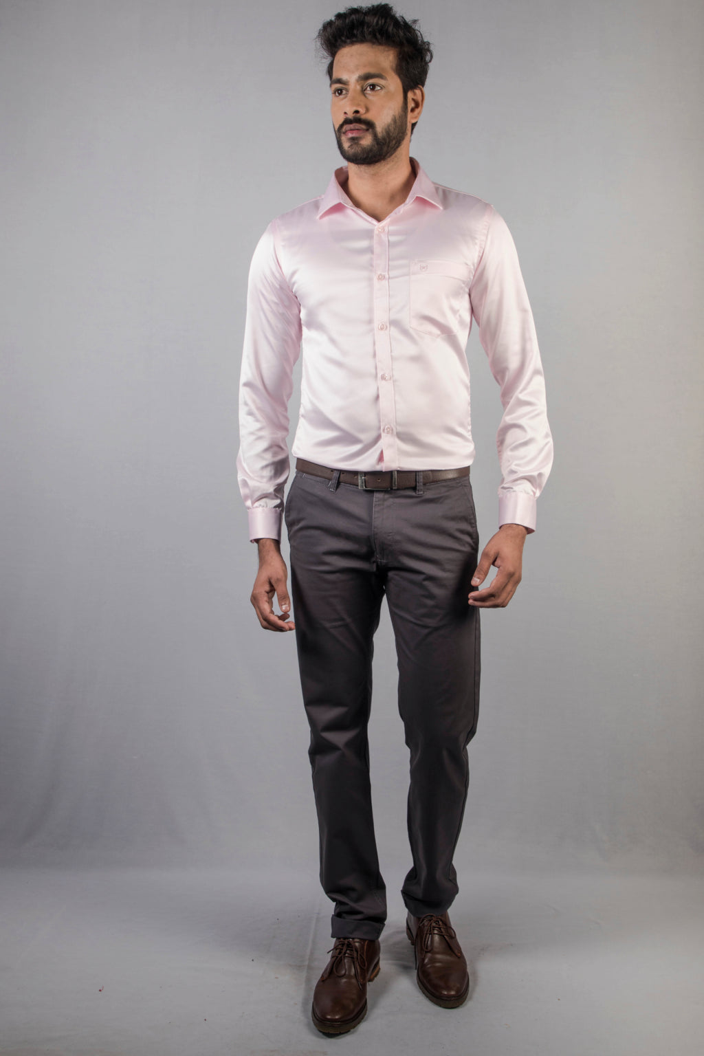 Pink Classic Satin Formal Shirt