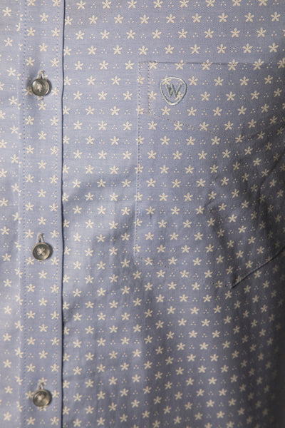 Blue Oxford Print Formal Shirt