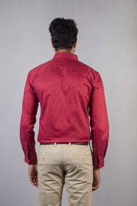 Red Giza Oxford Formal Shirt
