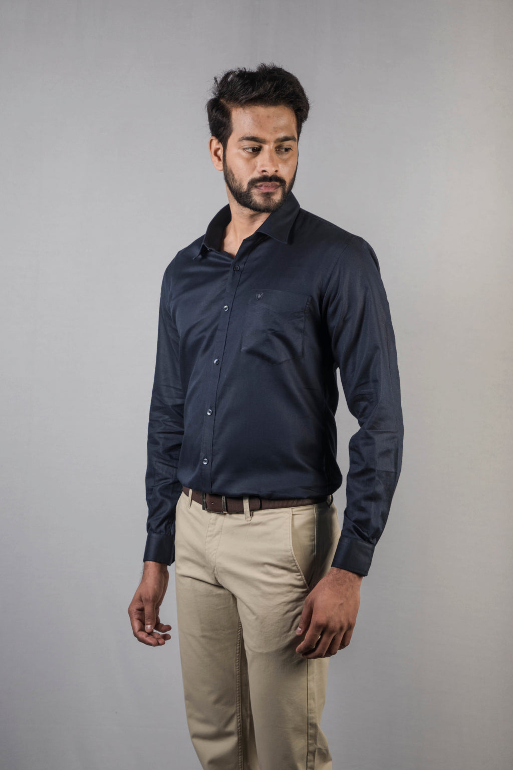 Navy Blue Dobby Formal Shirt