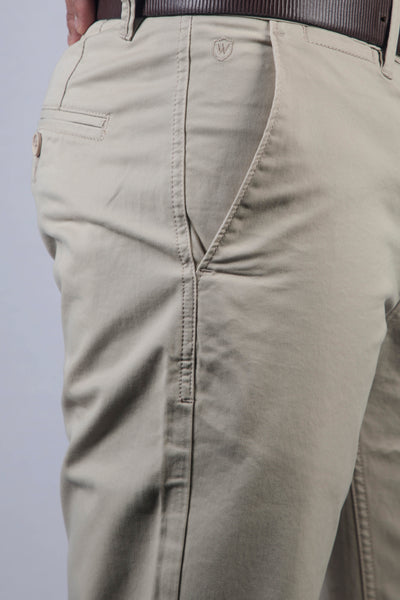 Light Fawn Chino Twill Lycra Trouser