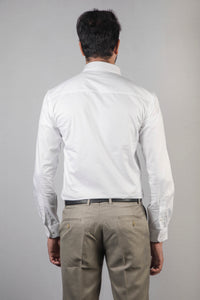 White Honeycomb Dobby Formal Shirt
