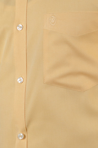 Yellow Honeycomb Dobby Formal Shirt