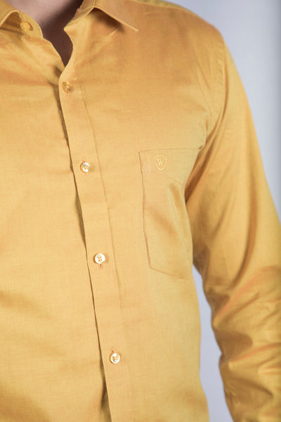 Yellow Giza Oxford Formal Shirt