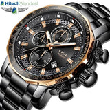 Latest Chronograph Mens Watches Full Steel Quartz Waterproof