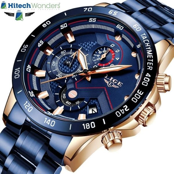 Latest Fashion Mens Watches Stainless Steel Chronograph Quartz