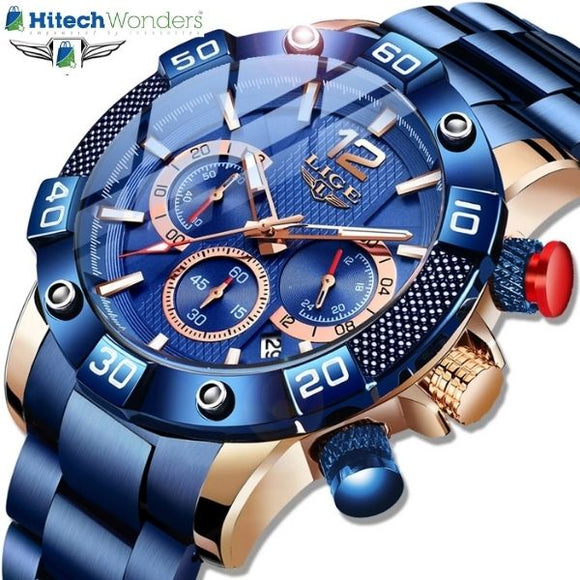 Latest Fashion Mens Watches Chronograph Waterproof Quartz
