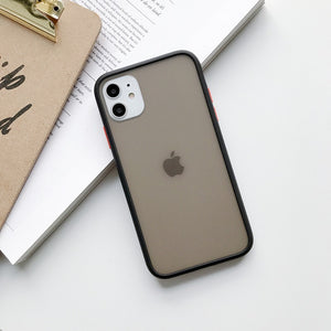 Transparent Matt Shockproof Phone Case For iPhones